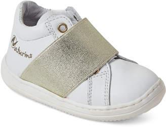 Naturino Toddler/Kids Boys) White & Gold-Tone Vitello Low-Top Sneakers
