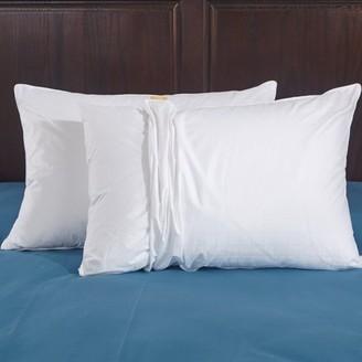 Pure Down Puredown White Down Pillow 100% Cotton, Standard/queen, Set of 2