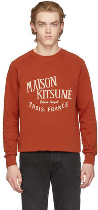 MAISON KITSUNÉ Orange Palais Royal Sweatshirt