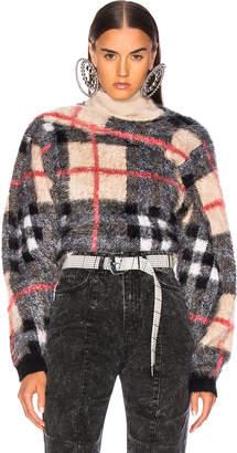 Y/Project Tartan Sweater in Beige | FWRD