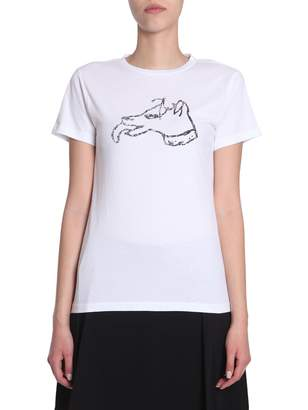 Bella Freud Dog Printed T-shirt