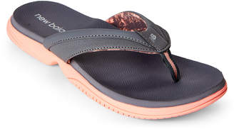 New Balance Grey & Pink Jojo Thong Sandals