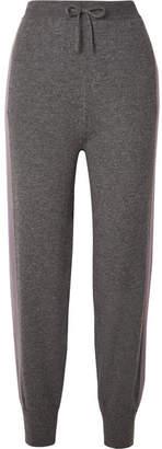 Agnona Two-tone Cashmere Track Pants - Gray