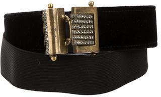 LanvinLanvin Velvet Jewel-Embellished Belt