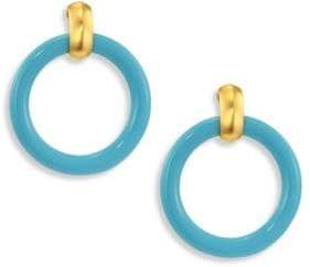Kenneth Jay Lane Large Clip-On Hoop Earrings/3""