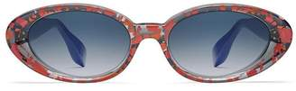 bcc25edd1c at The Webster · Rosie Assoulin x morgenthal frederics jawbreaker sunglasses