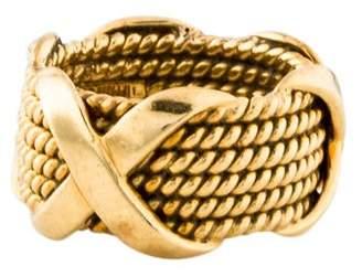 Tiffany & Co. Vintage Rope Six-Row X Ring