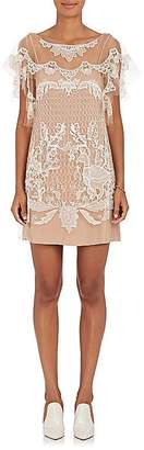 Alberta Ferretti Women's Beaded Tulle Shift Dress