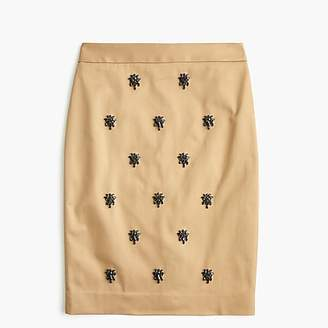 J.Crew No. 2 pencil skirt in embellished stretch chino