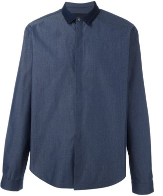 Juun.J contrast collar shirt
