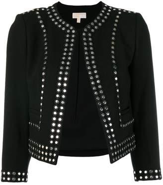 MICHAEL Michael Kors stud embellished fitted jacket