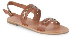 Frye Ally 2 Band Hammered Stud Leather Sandals