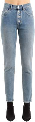 Balenciaga High Rise Tube Stone Wash Denim Jeans