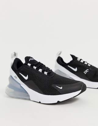 brand new cc259 dbc58 Nike Black And White Air Max 270 Trainers