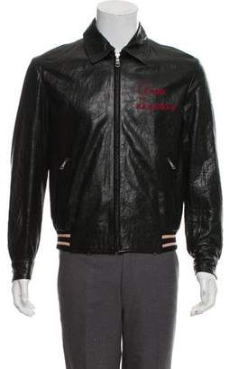 Gucci 2018 Amore Disperato Leather Bomber w/ Tags