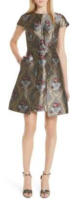 Ted Baker Ice Palace Metallic Detail Skater Dress