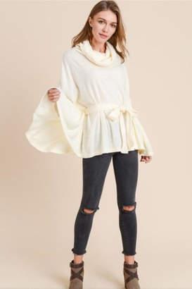 Doe & Rae Turtleneck Cape Top