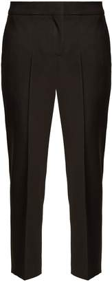 Alexander McQueen High-rise slim-leg cropped wool trousers