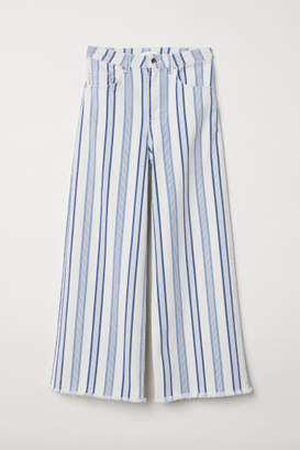 H&M Ankle-length Twill Pants - White