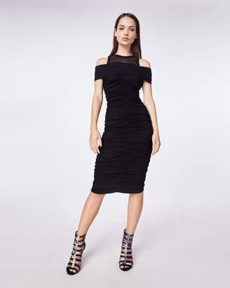 Nicole Miller Cotton Metal Combo Dress