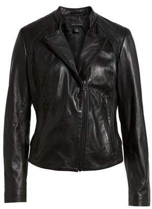 Halogen Zip Racer Leather Jacket