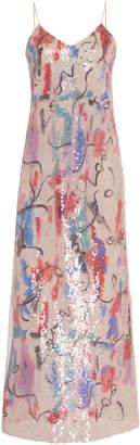 SOONIL Iridescent Sequined Slip Dress Size: 0