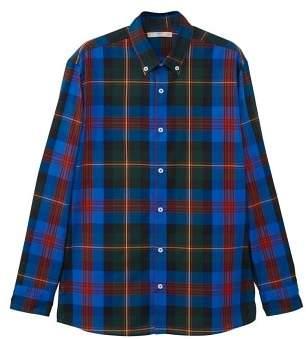 MANGO Regular-fit check cotton shirt