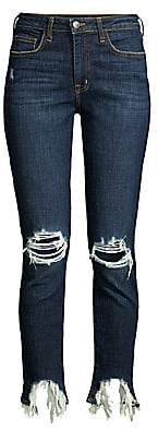 L'Agence Women's High Line Distressed High-Rise Skinny Jeans