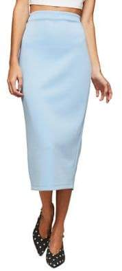 Miss Selfridge Scuba Midi Pencil Skirt