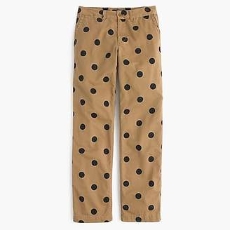 J.Crew Tall boyfriend chino pant in polka dot