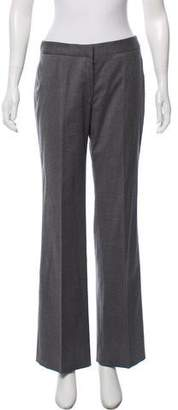 Alexander McQueen Fleece Wool Mid-Rise Pants