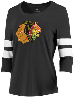 Majestic Women Chicago Blackhawks Let Loose Raglan T-Shirt