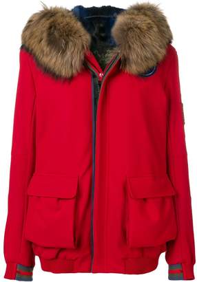 Mr & Mrs Italy Arctic fur-trimmed hooded jacket