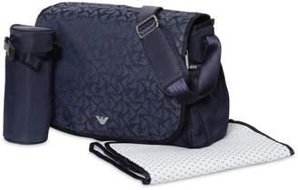 Emporio Armani Logo Printed Nylon Changing Bag