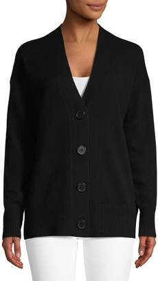 Equipment Button-Front Cashmere Cardigan