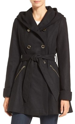 Jessica Simpson Double Breasted Hooded Trench Coat $240 thestylecure.com
