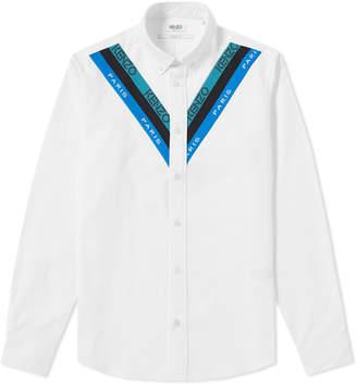 Kenzo Knitted Insert Oxford Shirt