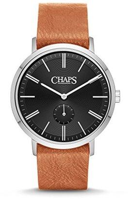 Chaps Dunhamライトブラウンレザーとstainless-steel three-hand Watch