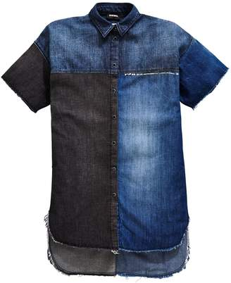 Diesel Girls Denim Short Sleeve Shirt Dress