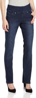 Jag Jeans Women's Petite Peri Pull On Straight Leg Jean in Comfort Denim