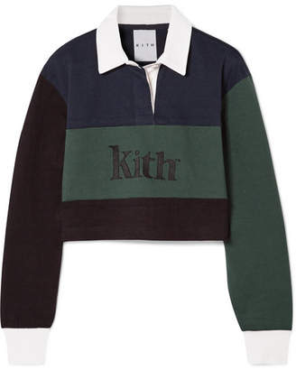 Kith - Mia Cropped Color-block Cotton Top - Navy