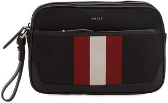 Bally Striped Tech Canvas Toiletry Bag