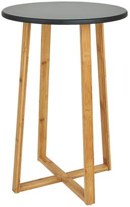DREW Bamboo and lacquer tall side table