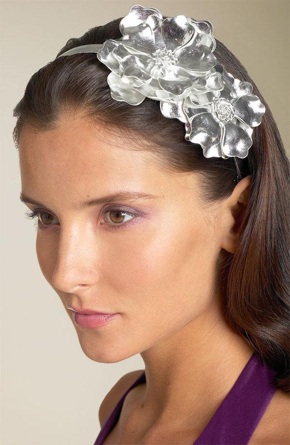 Tasha Leather Flower Headband