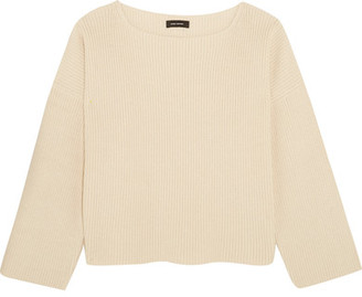Isabel Marant - Fly Ribbed Cotton-blend Sweater - Ecru $700 thestylecure.com