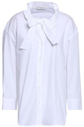 Sandro Bow-detailed Cotton-poplin Shirt