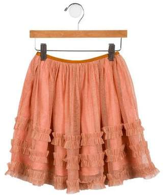 Caramel Baby & Child Girls' Tulle Metallic Skirt