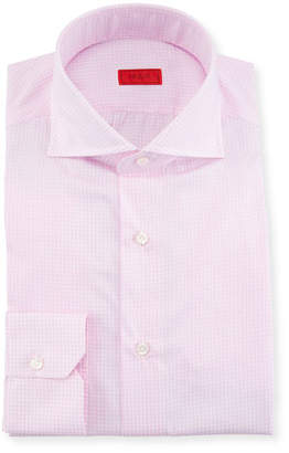Isaia Gingham Cotton Dress Shirt