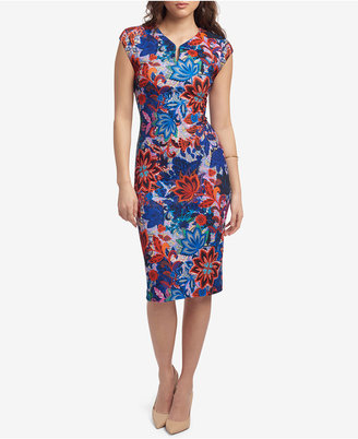 ECI Floral-Print Sheath Dress $88 thestylecure.com