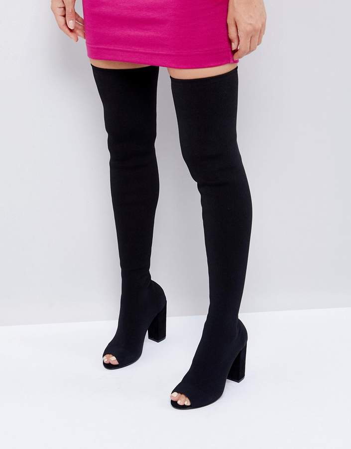 ASOS KANDY Knit Over The Knee Boots